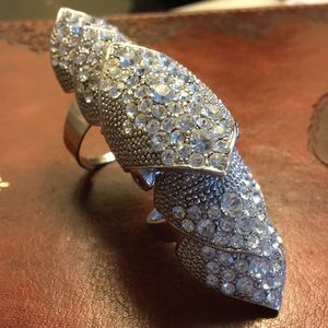 Jewelry - FINGER RING SILVER DIAMOND CRYSTALS